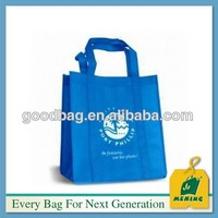 Long handle pp non woven Material cloth shopping bags ELE-CN0741 Christmas new product