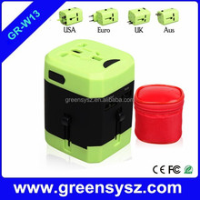 GR-W13 hot international power adapter universal travel adapter with usb port
