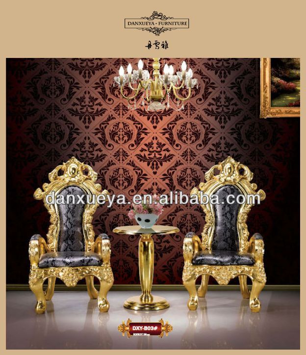 Ordinaire Antique Gold King Throne Chair For Sale B03#. 001