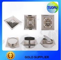 China stainless steel square air diffuser,stainless steel square active vent cap for wall