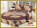Impreso de poliéster ropa de cama conjunto/falso patchwork colchas de algodón