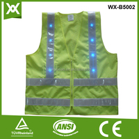 high visible green safety LED clothes best selling