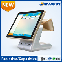Gold Cheap 15inch All in One Touch Screen Cash Register with Card Reader Factory Supply