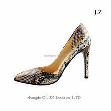 OP14 high heel brown dress shoes brazil style