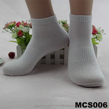 man cheap and fashion cotton bulk white crew socks