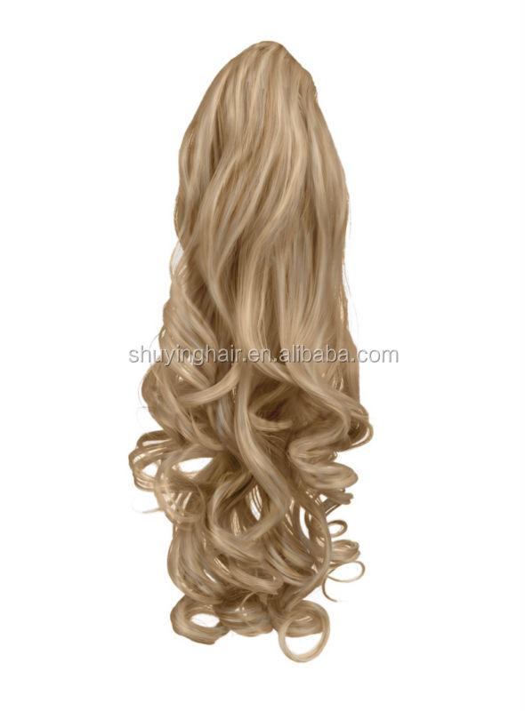 2014 New Design Wrap Around Human Hair Ponytailponytail Clip In
