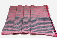 Wholesale fashion red and black stripes cotton scarf 2015