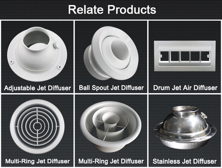 Air Conditioning Ceiling Multi Ring Jet Diffuser Fan
