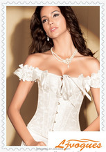 Elegant Women Brocade Shoulder strip Corset Lifting underwear Wholesale