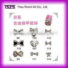 Bow nail design 3d alloy nail charms DIY studs nail art supplies