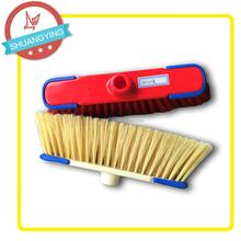 Plastic Floor Scrubber Brush Cleaning Floor Wide Broom with metal Stick or Long Wood Handle