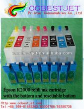 2013 china popular for Epson R2000 refill ink cartridge with resettable botton