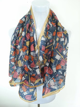 Fancy pattern scarf women's fashion accessories top quality