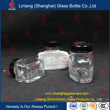 70ml clear ink shape round glass bottle with screw neck