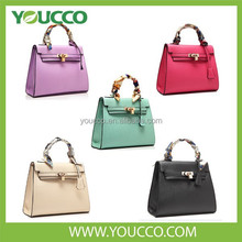 PU Hobo Brand Leather Hand bag Lady bag Women's bag With Lock And Scarves