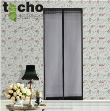 two pieces magnetic mosquito curtain door/design fabric curtain for door