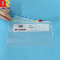 Best quality reclosable printed zipper slider plastic bag for office supplies