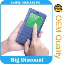 china factory leather flip cover case for smartphone