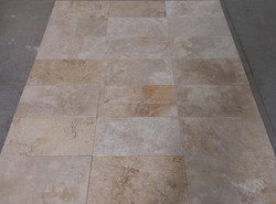 walnut tumbled travertine pavers