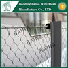 security fence panel with stainless steel rope mesh net/security fence panels(made in china)