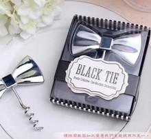 """Black Tie"" Wine Bottle Opener Red Wine Cork Screw Opener wine corkscrew bottle opener Creative Gifts Wedding Party Gifts"