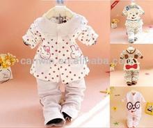 Ropa del bebé conjunto, traje de bebé otoño conjunto, bebé conjuntos de 2014