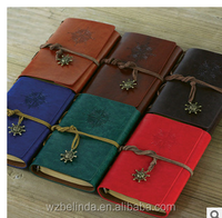 engraved vintage style traveler journal pocket notebook with craft paper