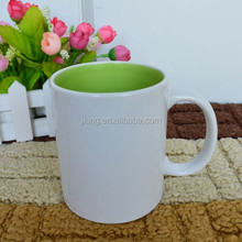 white outside colored inside colorful glazed ceramic mug coffee mug