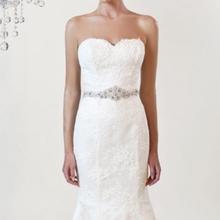 Best selling decorative lace trim bridal crystal rhinestone sashes wedding dress belts
