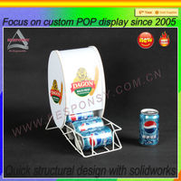 Shopping mall supermarket point of sale cold beverage display