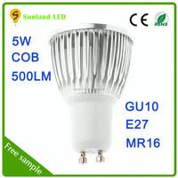 China wholesale COB 85-265v 5w spot light led 500lm 5W cob lamparas led MR16 led spot lighting bulb