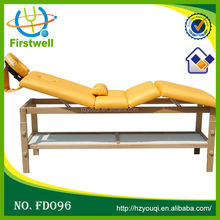Wooden university massage tables/2 section adjustable wooden bed