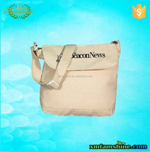 reusable shoulder canvas messenger bag/canvas school bag