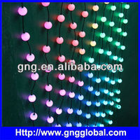 Pixel ball 3D effect ,night club lighting;50mm pixel led ball light string outdoor