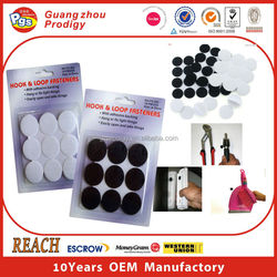 Hook and loop self adhesive color velcro dots