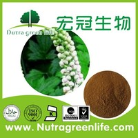 factory outlet herb extract powder rattlesnake root Black Cohosh Polyphenol 4% Chicoric Acid 2% HPLC price negotiable