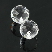 clear color magic white glass solid ball