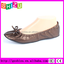 Cheap foldable ballet shoes in bag after party ballerinas
