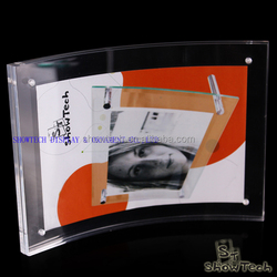 "Factory price 4""x6"" inch magnetic curved acrylic photo frame ST-PFCM4060"