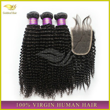 ally express wholesale Brazilian human hair kinky curly hair lace closure