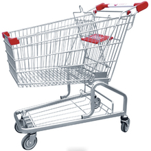 Durable 80L retail shopping car,shop grocery trolley for German market