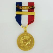 custom metal badge gold coin medal