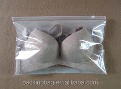Eco friendly cheap Custom transparent plastic bikini zip bag