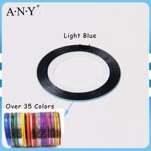 ANY Nail Beauty Curing Decorative Sticker 24M Long Light Blue Plastic Nail Tape DIY