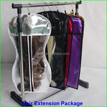 Best selling factory price 100% virgin brazilian human hair packaging bags for hair extension