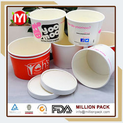 Best Sell Ice Cream Cups With Flat Paper Lid,Colorful Disposable Ice Cream Cups