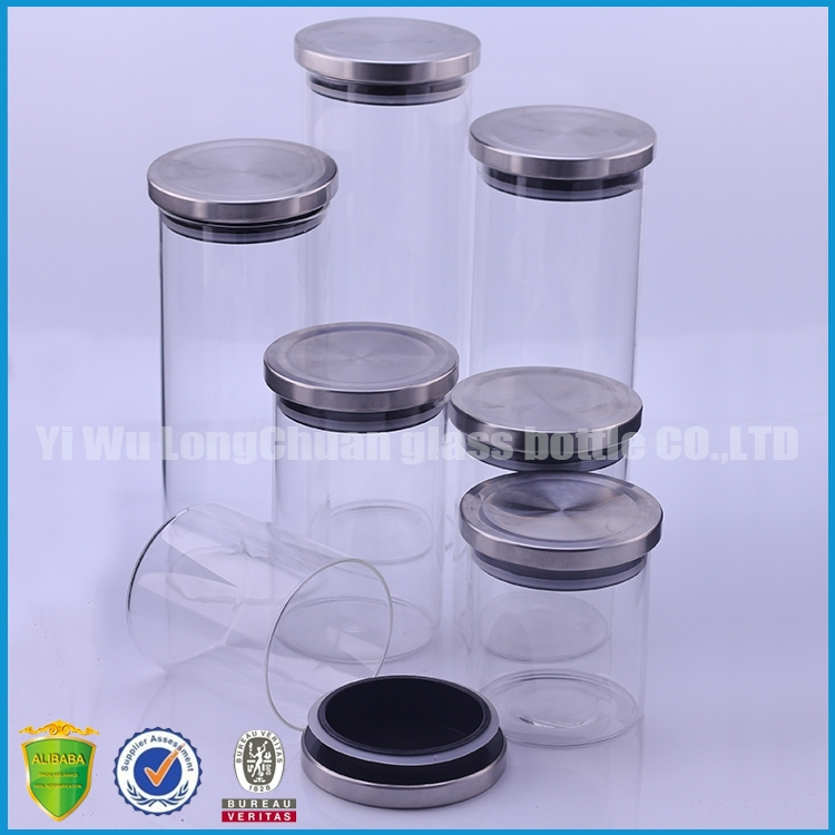 kitchen canisters food storage glass bottle glass jar with 4 piece airtight canisters kitchen storage glass locking