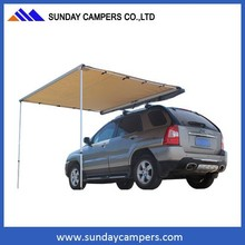 Retractable car awning caravan awning awning supports