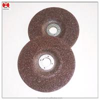 Depressed type 4 inch brown grinding wheel