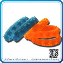 party decoration silicon material wheel grain band bracelet glow in dark no min order